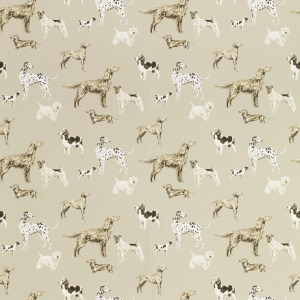 Laura Ashley Hunterhill Dark Linen Patterned Wallpaper