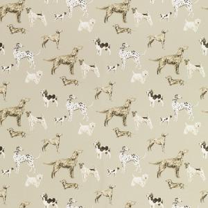 Laura Ashley Hunterhill Dark Linen Patterned Wallpaper