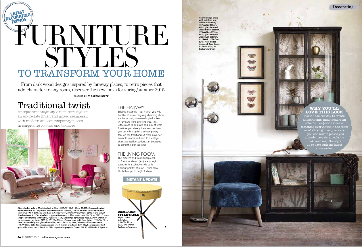 My Work New Furniture Trends Real Homes Magazine